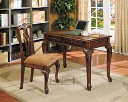 ACME 09650 2-Piece Aristocrat Writing Desk and Chair, Dark B