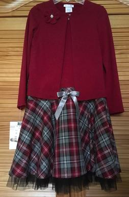 Bonnie Jean 2 pc. Party Dark Red/Burgandy Dress Girls Size 1