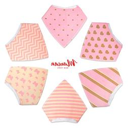 6-Pack Baby Bandana Drool Bibs for Drooling and Teething, 10