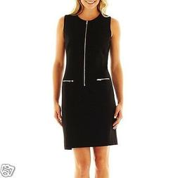 9 & Co. Black Zip-Detail Dress New With Tags Msrp $70.00 Siz