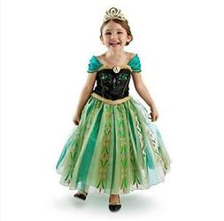 DaHeng Girls Princess Green Anna Fancy Dress Costume