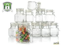 Stock Your Home 3 Ounce Airtight Glass Jar with Leak Proof R