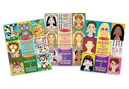 Melissa & Doug Make-a-Face Sticker Pads Set: Fashion Faces,