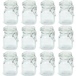 Charmed 3 oz Airtight Square Spice glass Jar with Leak Proof