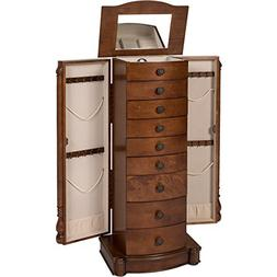 Best Choice Products Armoire Jewelry Cabinet Box Storage Che