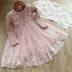 Baby Girl Dress Lace Princess Birthday Party Dresses Winter