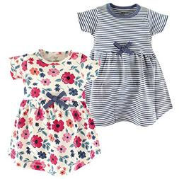 Touched by Nature Baby Girls' Organic Cotton Dress, Floral S