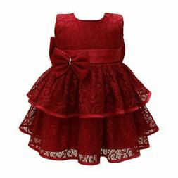 Glamulice Baby Girls Tulle Lace Princess Party Dresses Pagea