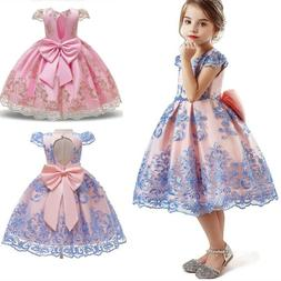 Baby Kids Girls Dress Flower Princess Party Wedding  Bridesm