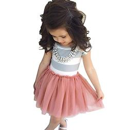 baby toddle girls tutu dress short sleeves