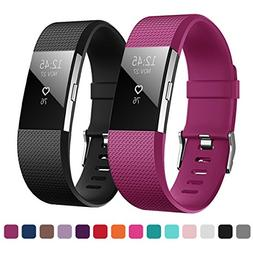 Kutop Bands Compatible Fitbit Charge 2, Soft Silicone Sports