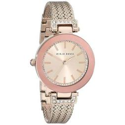 Women's Anne Klein Crystal Accent Mesh Strap Watch, 30mm - R