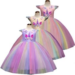 Cute Unicorn Decoration Girls Tutu Dress Princess Cosplay Co