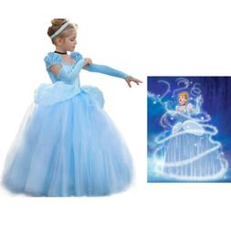 Disney Cinderella Costume for Girls, Cinderella Princess Cos