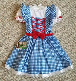 Wizard of Oz Dorothy Tutu Dress NEW with Tags Girls Blue Whi