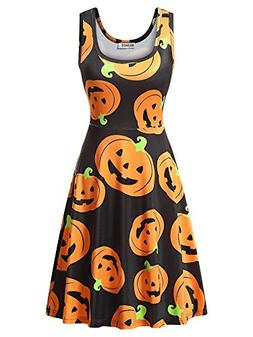 HUHOT Junior Dress, Sleeveless Casual A Line Halloween Party