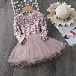 Flower Girl Dress Tutu Baby Kids Tutu Birthday Party Pink Pr