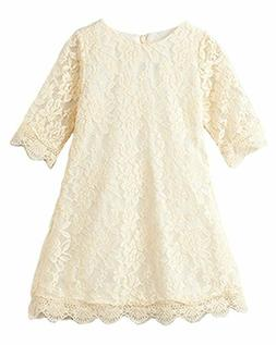 CVERRE Flower Girl Lace Dress Country Dresses with Sleeves 1
