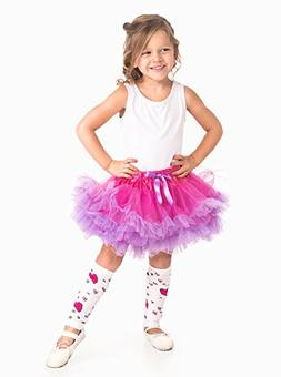 Little Adventures Fuchsia/Light Purple Fluffy Ballerina Tutu