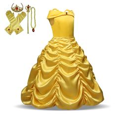 Children Girls Beauty and the Beast kids Princess Belle Dres