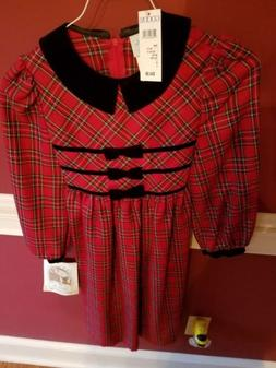 Girls Christmas/PLAID  dresses size 16 & size7  JESSICA ANN