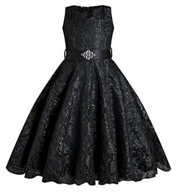 BEAUTY CHARM Girls Tulle Lace Glitter Vintage Pageant Prom D