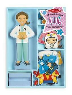 Melissa & Doug Julia Magnetic Dress-Up Wooden Doll Pretend P