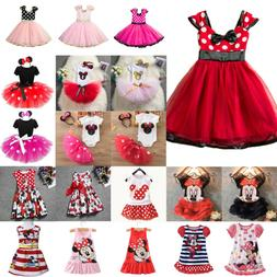 kids girls minnie mouse tutu dress cartoon