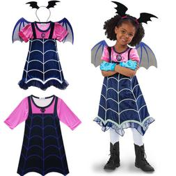 Vampirina Dress Wing Headwear Cosplay Girls Fancy Dress Part