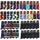 12-Pack Men Dress Cotton Socks Size 10-13 Multi Color