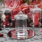 3 oz Clear PLASTIC Favor JARS with LIDS Wedding Party Gift F