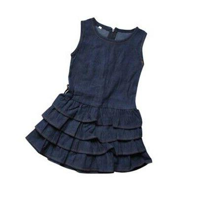 2Pcs Sleeveless Vest Skirt Tutu Dress Casual Clothes Set