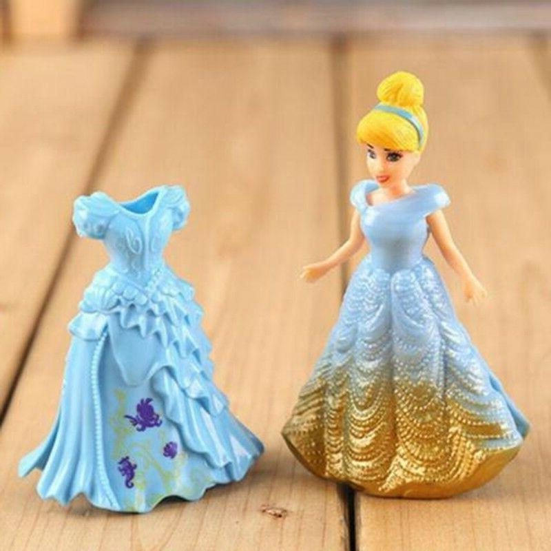 8PCS Changed Dress Disney Figures Toy