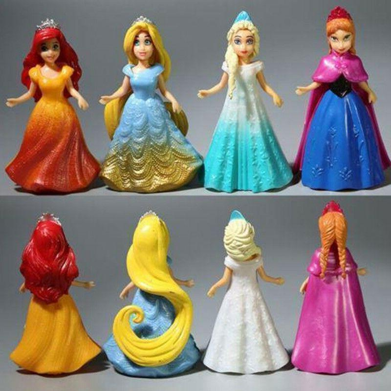 8PCS DIY Dress Figures Doll Girl Toy