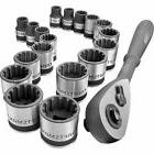 New! Craftsman 19pc Universal Socket and Ratchet Set 3/8""