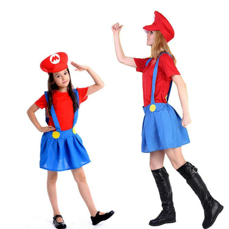 Adult Mario & Dress set Halloween Costume
