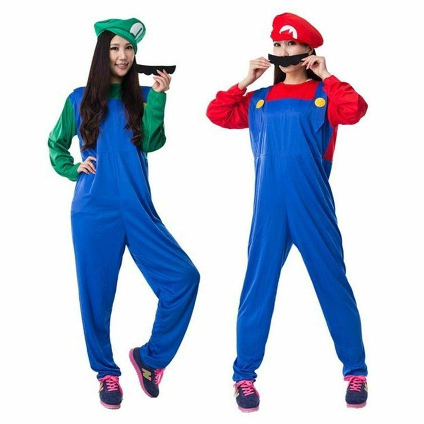 Adult Mens Mario Luigi Dress Halloween Costume US