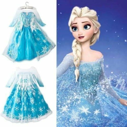 Anna Elsa Disney Frozen1Girls Inspired Princess Dress Party