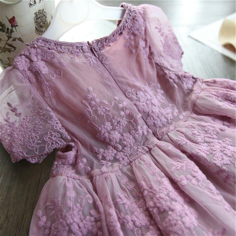 Baby Dresses Lace Embroidery Summer Size