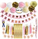 Baby Shower Decorations for Girl Pink and Gold Banner Its a