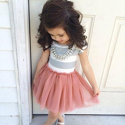 Baby Dress Stripe Tulle