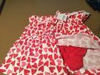 Carters Baby Girl Dress and Bloomers Pants Hearts Red White