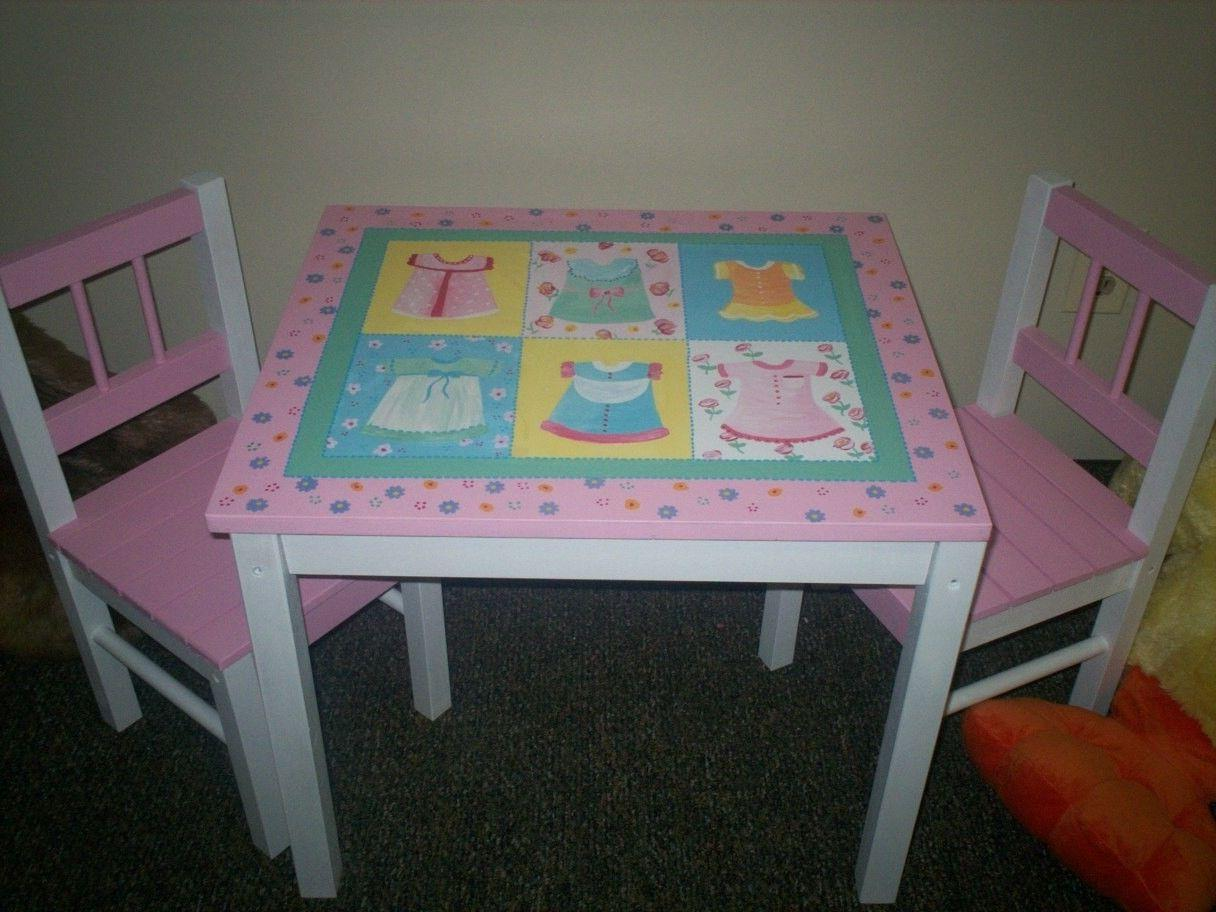 children s hand painted table and chair