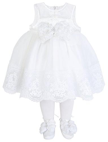 christening baptism embroidered dress gown