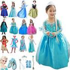 Disney Princess Elsa Dress Fancy Anna Girls Party Kids Cospl