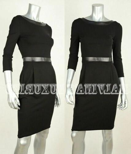 GUCCI DRESS LEATHER STRETCH CREPE $1,650 sz XS SMALL