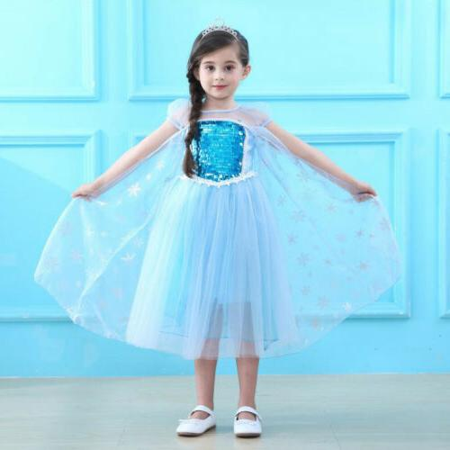 Elsa Party Outfit Tulle Tutu Hot