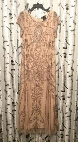 embellished mesh gown size 14 blush 46