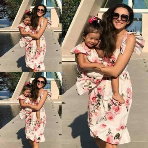 Family Dress Mother Daughter Girls Clothes