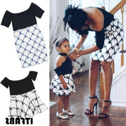 mother and daughter clothes parent child dress